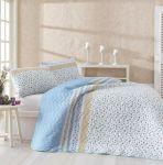 Купити покривало євро Eponj Home Fashion блакитне 200*220