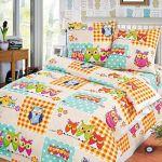 Ткани для детского постельного белья розницу, Бязь с совами