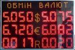 Светодиодные табло обмена валют