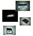 Табличка номера дома с автономной подсветкой