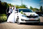 Авто на свадьбу, аренда авто белая KIA OPTIMA Донбасс