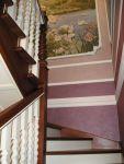 Лестница из дерева, металлокаркас, обшивка деревом