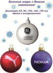 Новорічні кульки з логотипом Вашої фірми