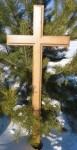 Хрест надгробний католицький дубовий КНК-170.