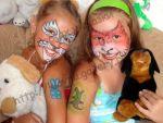 Аквагрим для дітей спец. фарбами на обличчі, руках!