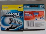 Леза Gillette Mach 3 Turbo (картридж) 8шт.65-00 грн