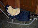 Зимовий конверт-чохол на коляску люльку, прогулянку і санки