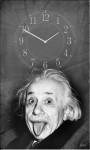 Настінний годинник на полотні Ейнштейн
