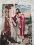 """Картина вишита хрестиком """"Ісус стукає в двері"""""""