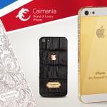 iPhone 5, 5s з обробкою з золота і шкіри каймана