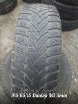 Шини зимові Б/У 195/65/15 Dunlop M3 протектор 5-6 мм