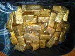 Venta de lingotes de oro y bruto