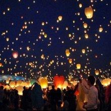 Небесні ліхтарики СЕРЦЕ, КУПОЛ, повітряні ліхтарі