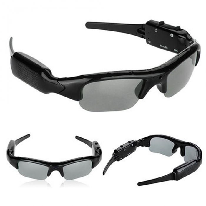 Солнцезащитные умные очки с цифровой НD камерой аудио-видео - фото