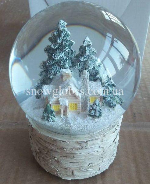 Снежный музыкальный шар - фото