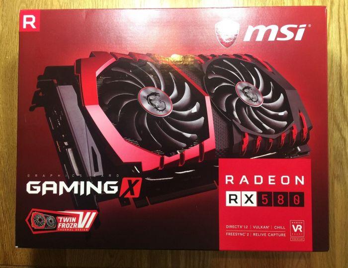 MSI Radeon rx 580 игровой x 4gb gddr5 Видеокарта в оптовых п - фото