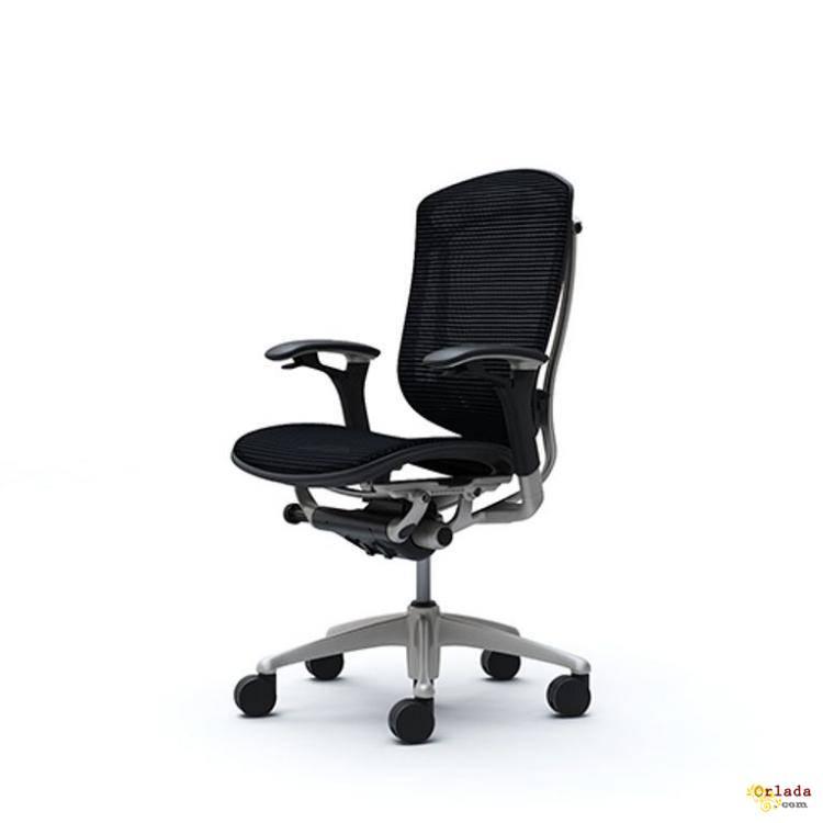 Эргономичные Кресла OKAMURA CONTESSA Black Япония спинка/сетка, сидение/сетка - фото