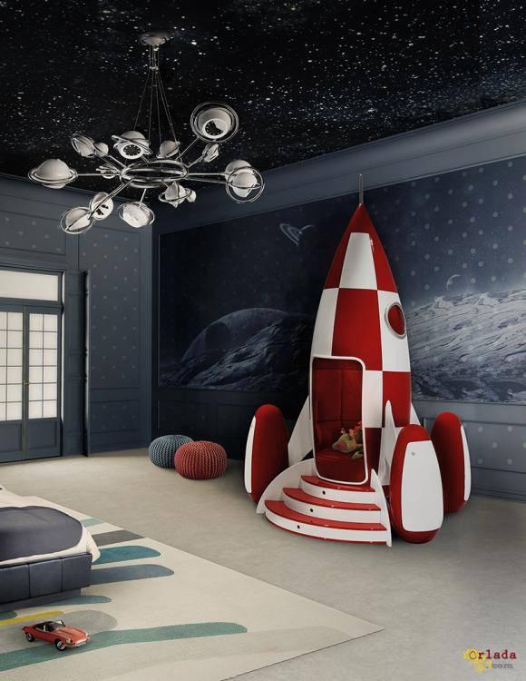 Итальянская мебель для детских комнат: кроватки, кровати, пеленальные - фото