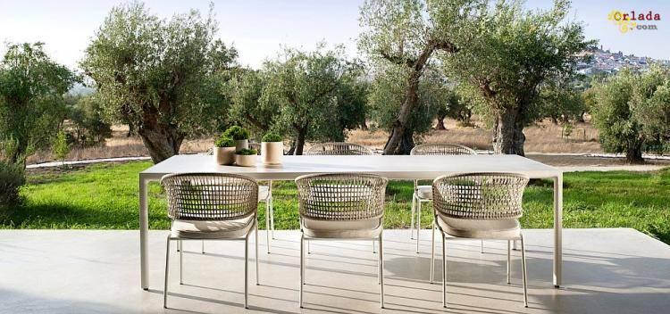 Итальянская уличная мебель: садовые столы, стулья, диваны, кресла - фото