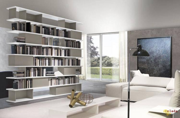 Итальянские шкафы, книжные полки, полки, тумбы, комоды - фото