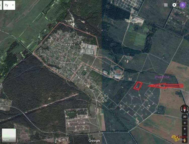 Продажа 5.5 Га с. Рожевка под коттеджное строительство - фото