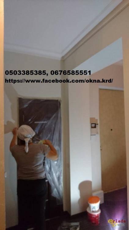 Ремонт, отделка, гипсокартонные работы, поклейка обоев Киев. - фото