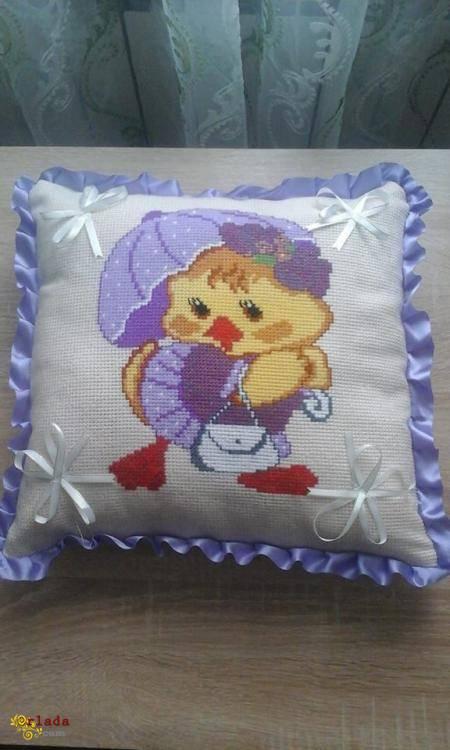 Вышитые детские подушки! - фото