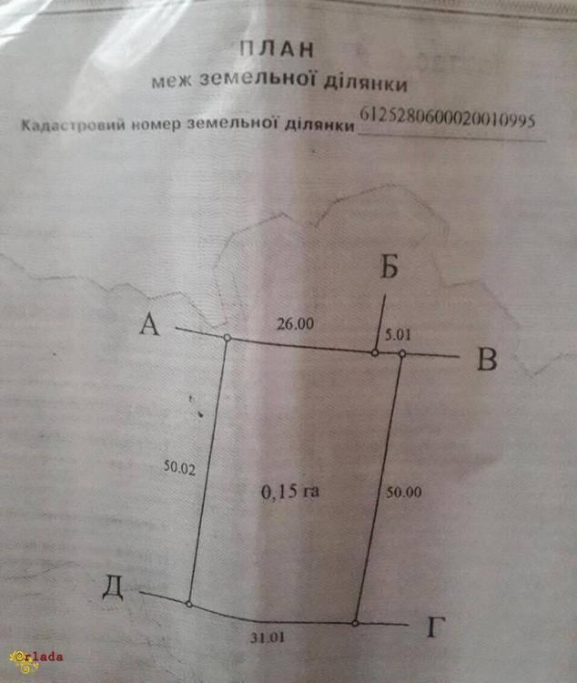 Земельна ділянка в Байківцях продаю (Гаї Ходорівські) - фото