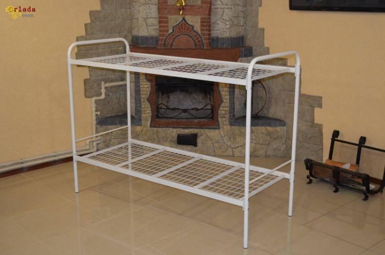 Металлические кровати двухъярусные, кровать недорого - фото