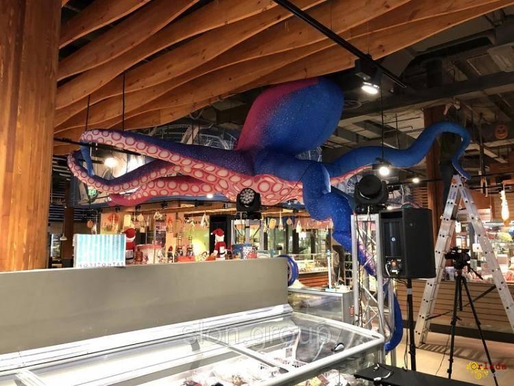 Надувной рекламный осьминог Inflatable octopus, Advertising Inflatable octopus - фото