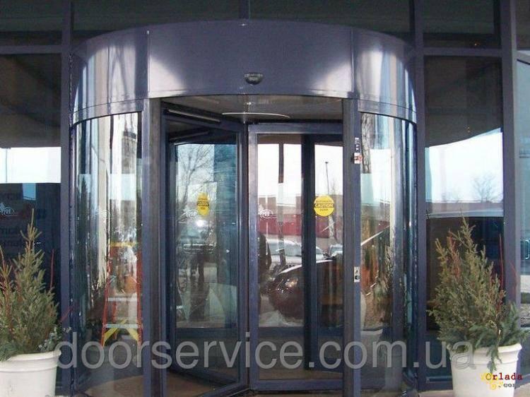 Автоматичні карусельні двері KA023 на три стулки, d=1800мм - фото