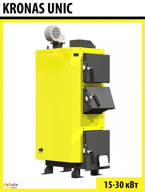 Котел Kronas Unik на твердому паливі  від 15 до 30 кВт - фото