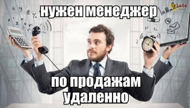 Требуется МЕНЕДЖЕР по ПРОДАЖАМ. ЛНР. Работа дистанционно - фото