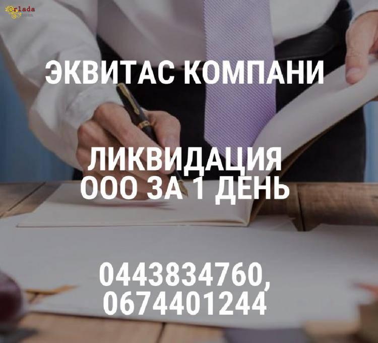 Ліквідувати ТОВ за 1 день Київ. Допомога в ліквідації підприємства. - фото
