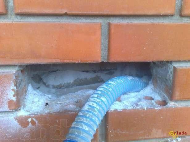 Утепление домов перлитом. Задувка пустотелых стен за 1-2 дня. Даже зимой! - фото