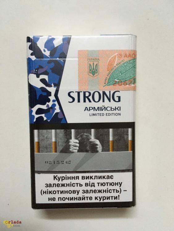 Сигареты Strong (армейские) оптом - фото
