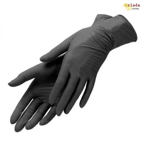 Нитриловые перчатки черные Киев. - фото