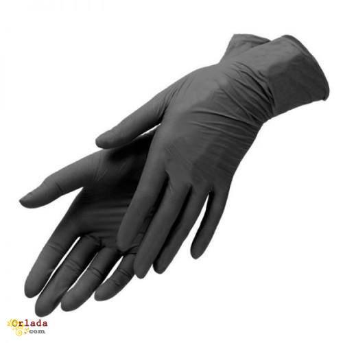 Продам нитриловые перчатки черные Киев. - фото