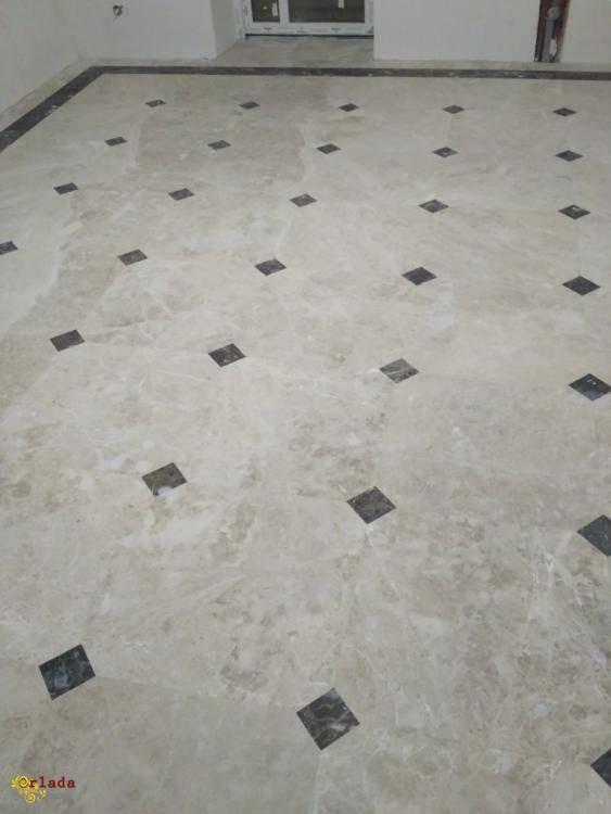 Восстановление блеска на мраморных полах - фото