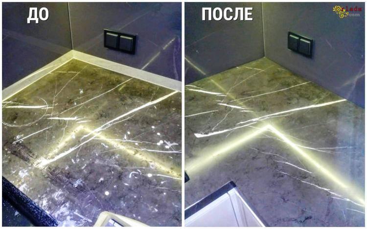 Реставрация / ремонт мраморных столешниц - фото