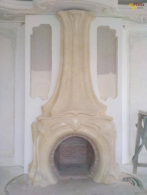 Ремонт / реставрация мраморных каминов - фото