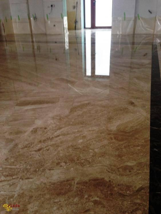 Шліфовка, поліровка мармурових підлог - фото
