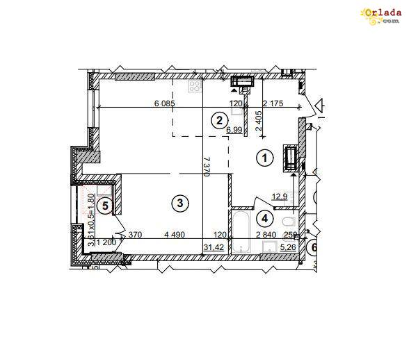 Продажа 1-комнатной квартиры ЖК Crystal Park Tower - фото