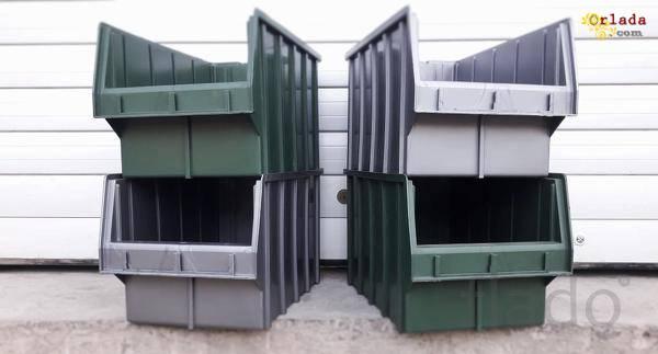 Стелажі для метизів Івано-Франківськ  металеві складські стелажі з ящиками - фото