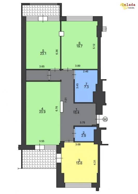 Продажа 3 комнатной квартиры ЖК Новопечерские Липки, ул. Драгомирова, 3. - фото