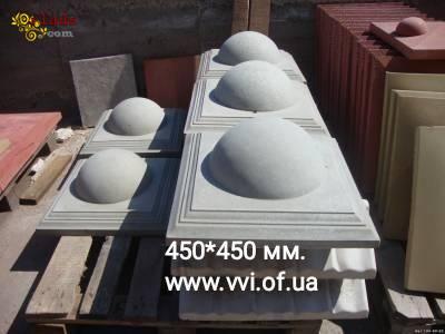 Колпак бетонный на столб - фото