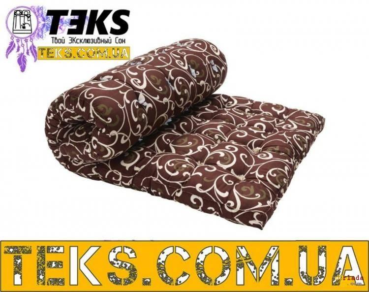 Матрас ватный, хлопковая вата, чехол ТИК, размер на выбор TEKS.COM.UA - фото