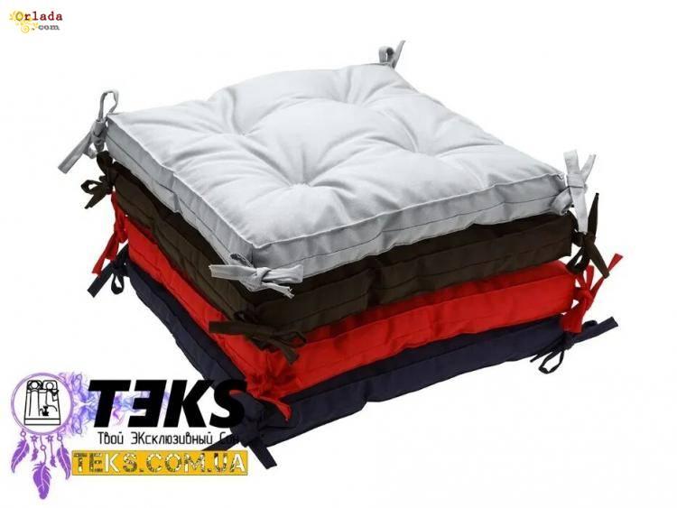 Подушки на стул 40х40, табурет, подушка для дома, ресторана, в школу - фото