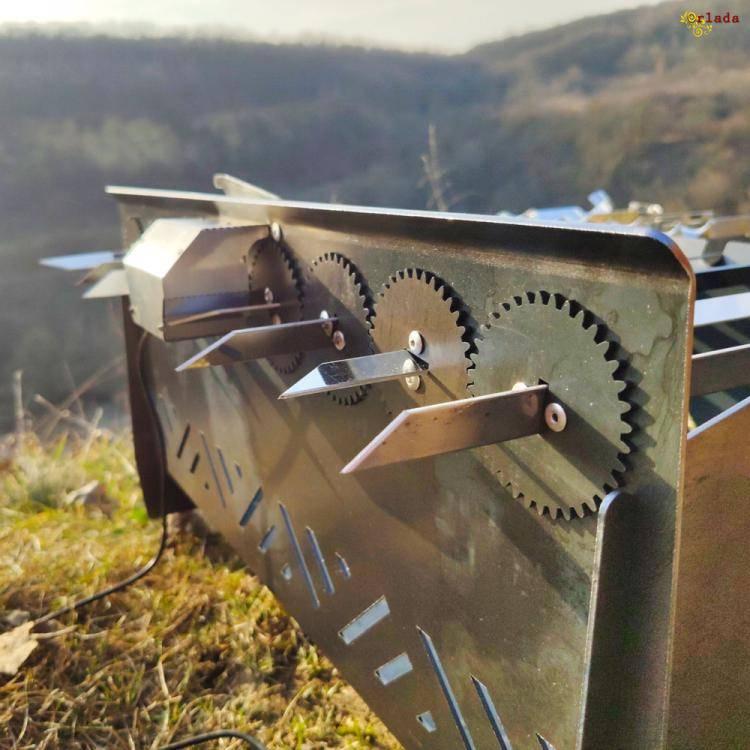 мангал автоматичний, лінивий шашличник, з мотором - фото