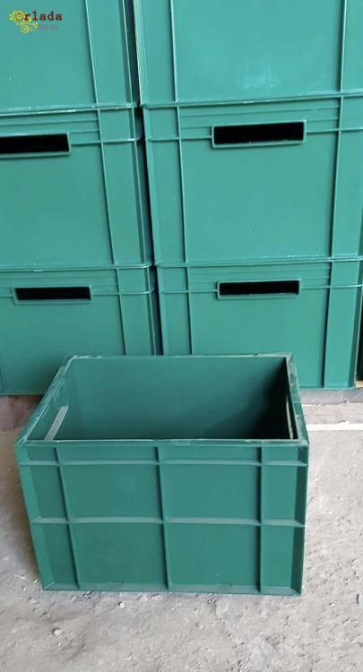 Пищевые хозяйственные пластиковые ящики для мяса молока рыбы ягод овощей в Днепре купить - фото